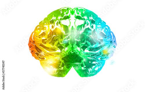 Mente Colorata, Cervello, lampi di genio, problem, brainstorming Canvas Print