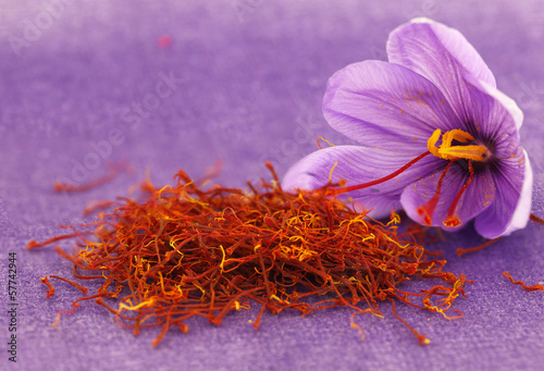 Recess Fitting Spices Dried saffron spice and Saffron flower