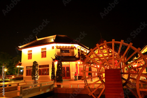 Papiers peints Attraction parc Night china village