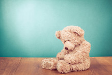 Teddy Bear Toy Alone In Front ...