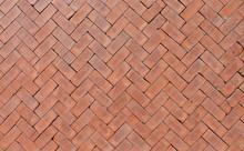 Orange Bricks Pattern Texture Floor