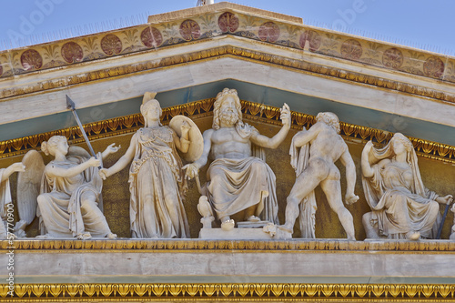 Photo  Zeus, Athena and other ancient Greek gods and deities, Athens