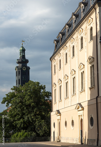 Photo  Herzogin Anna Amalia Bibliothekmit Schlossturm, Weimar