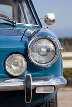 Blue Vintage Car Headlight.