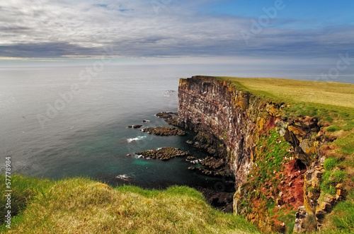 Recess Fitting Northern Europe Cliff in Iceland - latrabjarg