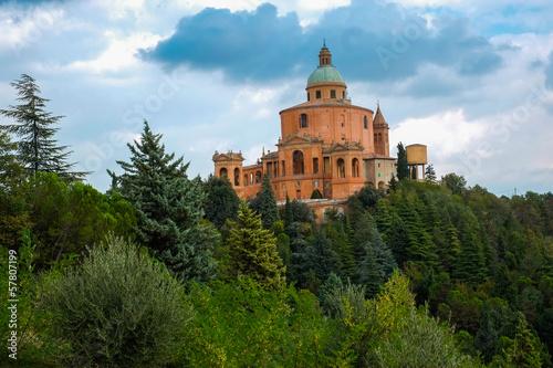 Spoed Foto op Canvas Grijze traf. San Luca Sanctuary