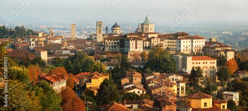 Bergamo, Fara e Rocca Canvas Print