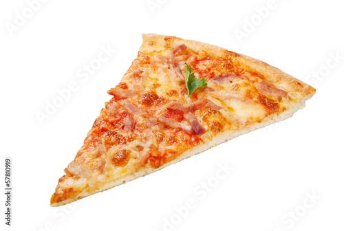 Photo  pizza portion