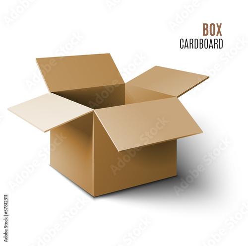Photographie  Icône de boîte en carton.