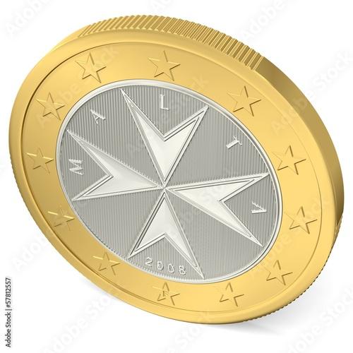 Ein Euro Münze Rückseite Von Oben Acheter Cette Illustration Libre