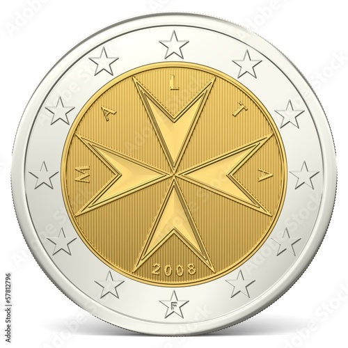 Zwei Euro Münze Rückseite Acheter Cette Illustration Libre De