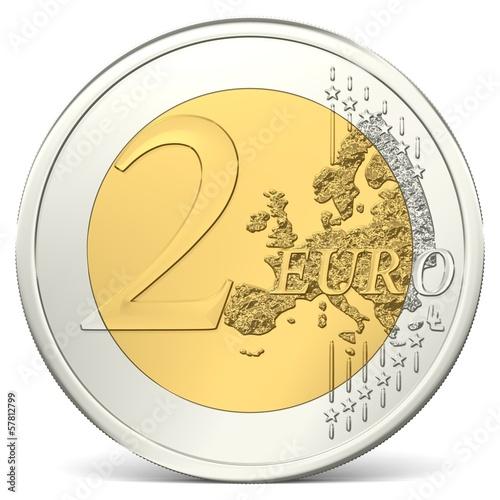 Fotografia  Zwei Euro Münze