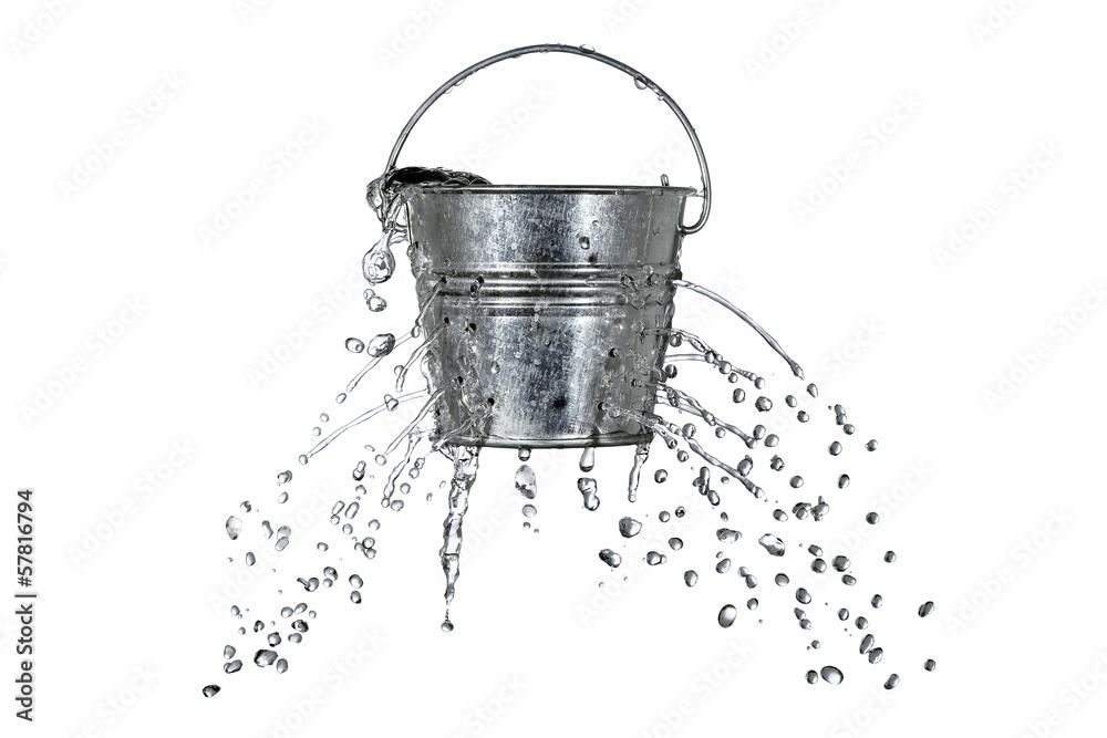 Fototapeta bucket with holes