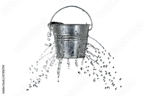 bucket with holes Canvas Print