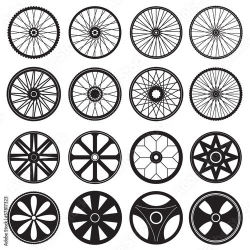 Fotografía  Bicycle Wheel, vector format