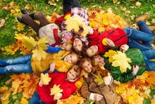 Many Friends Lay On Autumn Gro...