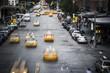 New York City yellow taxi street scene