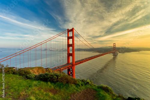 Vászonkép  Golden Gate Bridge at sunset