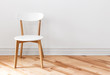 canvas print picture - White chair in an empty room