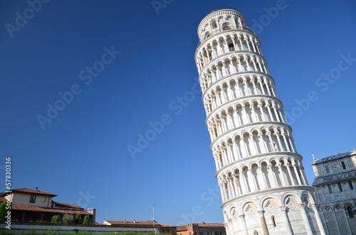 Canvas-taulu Słynna Krzywa Wieża w Pizie na Placu Cudów, Toskania we Włoszech