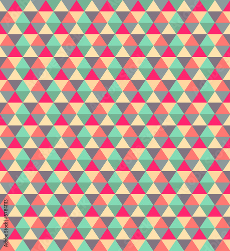 Deurstickers ZigZag Beauty concept retro style polygonal pattern