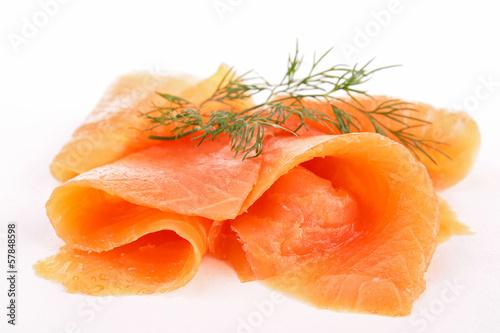 Fotografie, Obraz  smoked salmon isolated