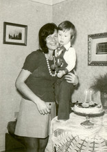 Young Mother With Her Son - Circa 1975