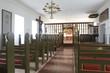 Iceland. Holar church, 1763. Interior. North Iceland.