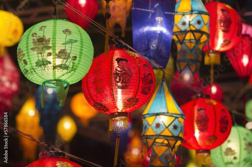 Photo  Asian lanterns in lantern festival