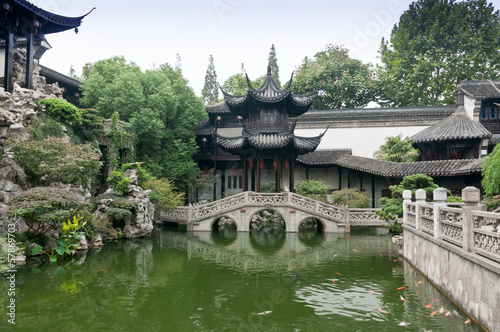 Keuken foto achterwand China in the garden pond and pavilion ,in China