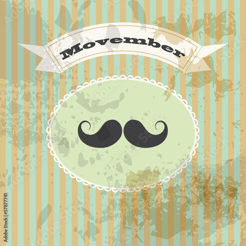Photo  movember and mustaches
