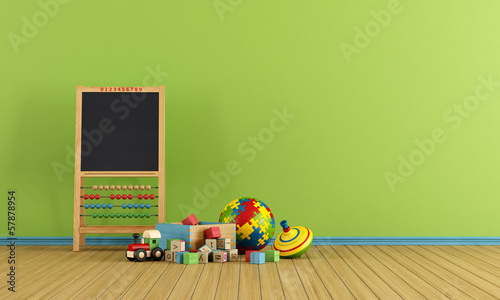 Foto  Play room with toys