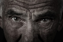 Monochrome Portrait Of An Elderly Man