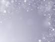 Silver background with snowflakes,bubbles and stars