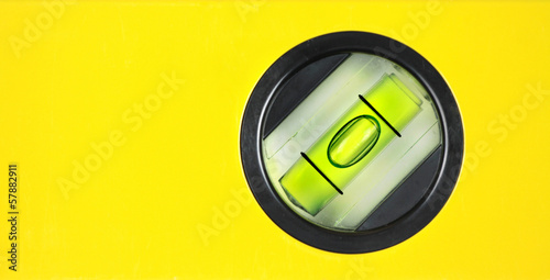 Fotografía  Yellow spirit level. Close up image.