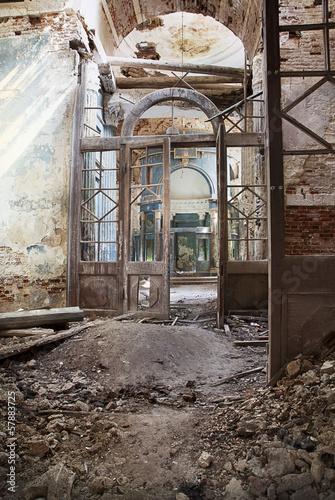 Destroyed Orthodox church