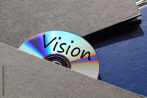 Ordner und CD Vision Poster