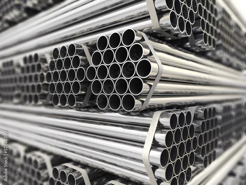 Fotomural Metal pipes.