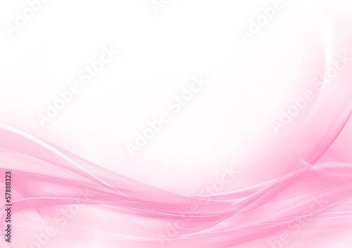 Tuinposter Abstract wave Abstract pastel pink and white background