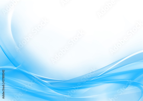 Cadres-photo bureau Abstract wave Abstract pastel blue and white background