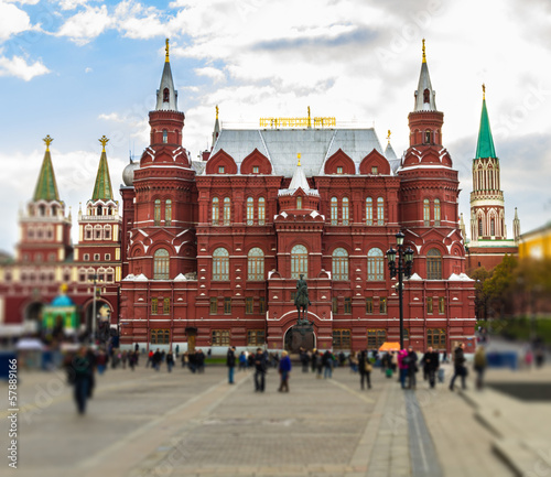 Wall Murals Bridges front entrance red square, moscow