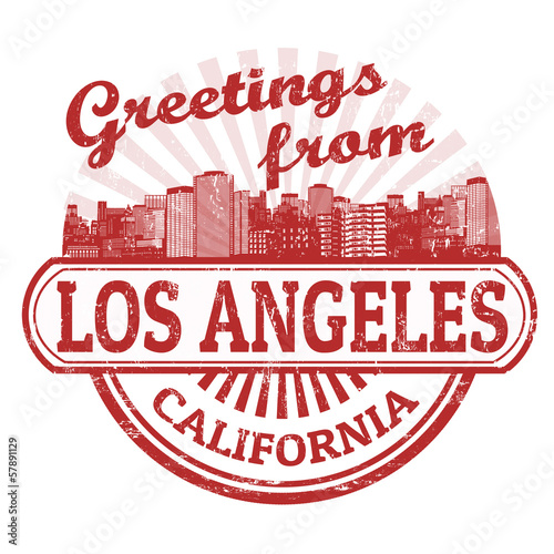 Greetings from Los Angeles stamp