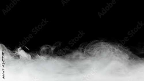Foto op Plexiglas Rook dense smoke backdrop isolated on black