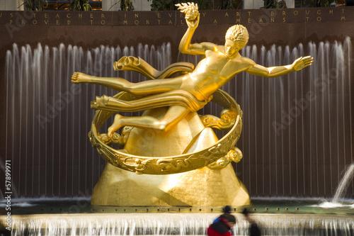 Fotografie, Obraz Prometheus Statue v Rockefeller Center New Yorku