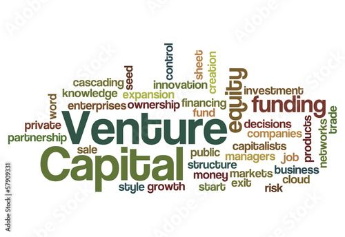 Foto  Venture capital funding investor concept background