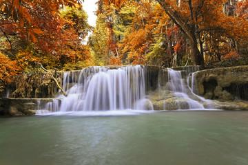 Obraz na Szkle Autumn Waterfall