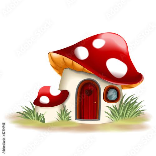 Fototapeta Fantasy mushroom house obraz