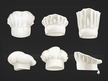 Chef Hats Set On Black
