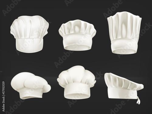Photo Chef hats set on black