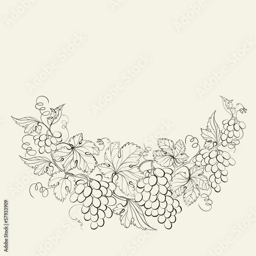 Design for wine list. Fototapete